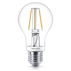 Philips Classic LEDbulb 5-40W E27 827 A60 clear FIL DIM, Item no. 74916
