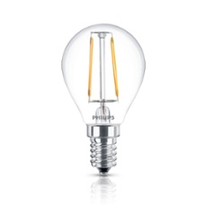 Philips Classic LEDluster 2.3-25W E14 827 P45 CL FIL ND, Item no. 74249