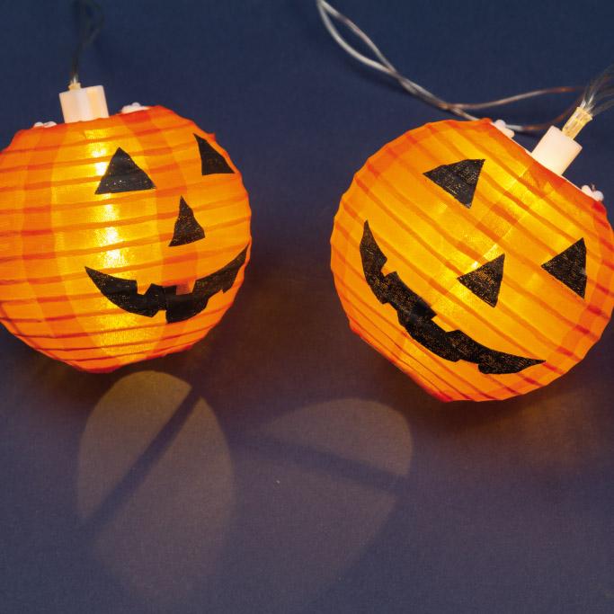 Lotti Importex Srl Lotti LED-Kürbis Lichterkette Halloween Laterne 35706