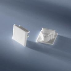 Closed end cap for aluminium profiles