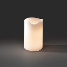 LED Real Wax Candle, 5 Warm White LEDs