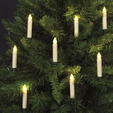 LED Baumbeleuchtung, mit Fernbedienung, 10 Kerzen, ArtNr. 30277
