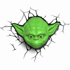 3D Wall light Star Wars Yoda
