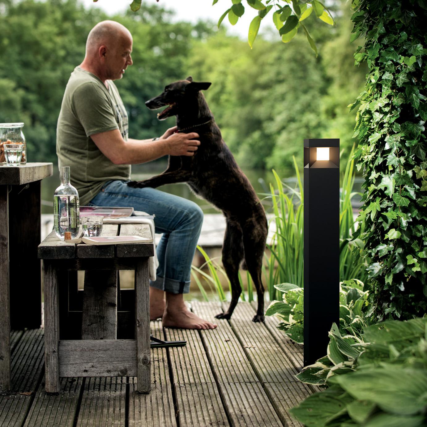 Signify GmbH Philips myGarden LED-Wegeleuchte Parterre, schwarz 1648230P0