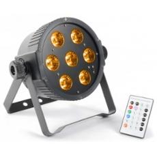 BeamZ LED FlatPAR 7 x 15W 5-1 RGBAW IR, ArtNr. 30396