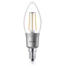 Philips Classic LEDcandle 4,5-40W E14 827 B35 clear DIM, Item no. 74929