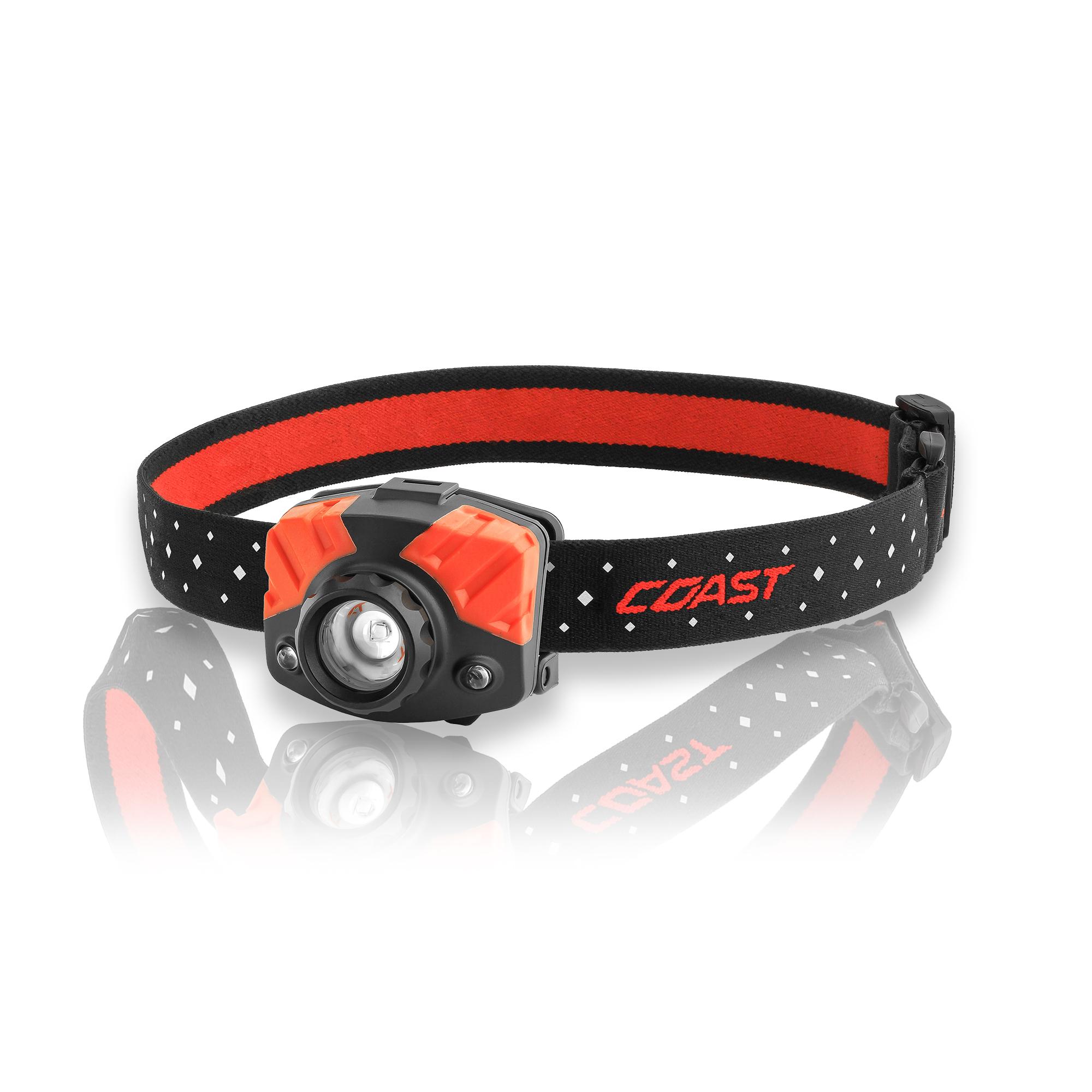 Coast FL75R LED-Stirnlampe mit Rotlicht, batterie- oder akkubetrieben 20455
