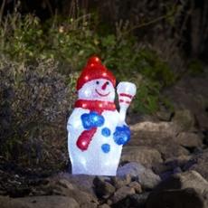 LED Schneemann, 48 kaltweiße  LEDs