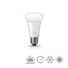 Philips Hue LED E27 White Ambiance upgrade  9,5W, Item no. 74510