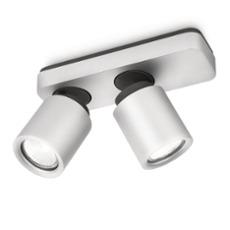 Lirio Deckenleuchte Dolium, 2 Strahler aluminium