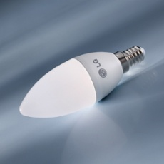 LG LED Candel E14  5.5W, warmwhite, Item no. 71485