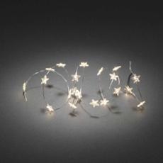 Guirlande lumineuse décorative à LED 20 étoiles transparent