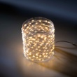 LED Micro Lichterkette klassisch warm silber, ArtNr. 31293