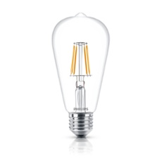 Philips Classic LEDbulb 4.3-40W E27 827 ST64 CL FIL ND, Item no. 74244