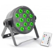 BeamZ LED FlatPAR 12 x 3W Tri IR, Item no. 30397