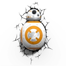 3D Wandleuchte Star Wars BB8