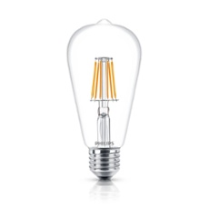 Philips Classic LEDbulb 7.5-60W E27 827 ST64 CL FIL ND, Item no. 74245