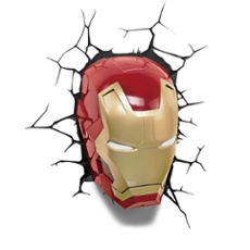 3D Wall light Iron Man Mask