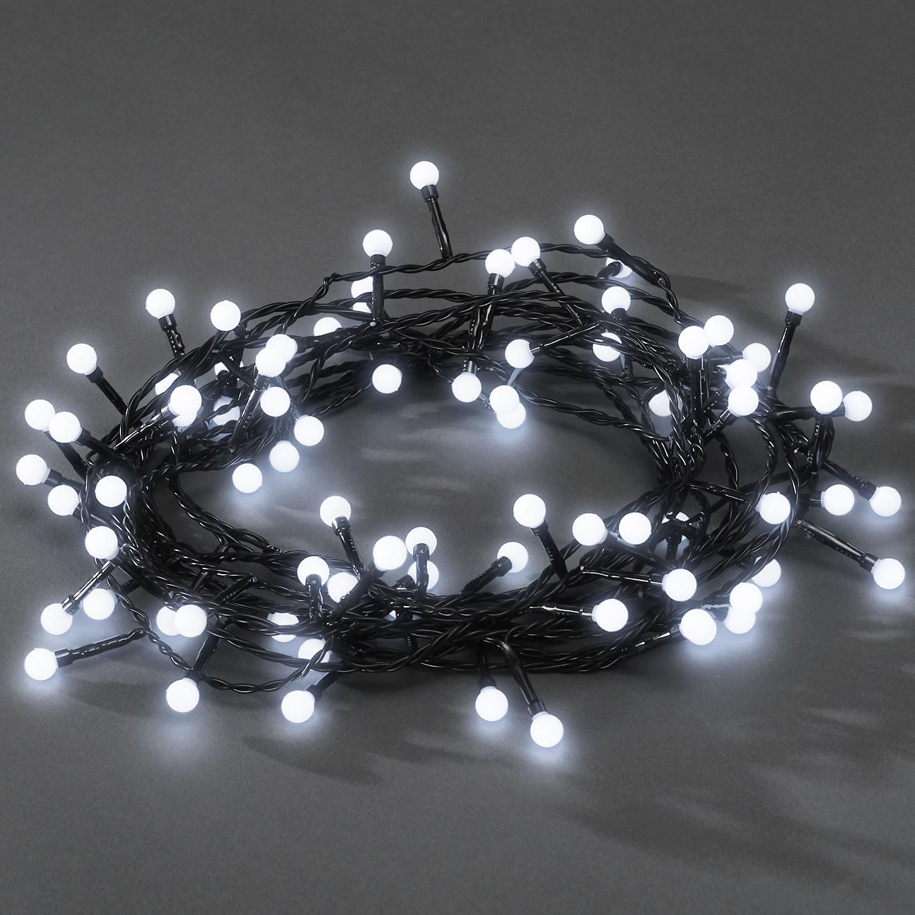 Gnosjö Konstsmide GmbH Konstsmide LED-Lichterkette, weiß, 6,3m, 80 runde LEDs 3691-207