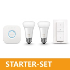 Philips Hue LED E27 White Ambiance 2er Starter Set 9,5W, ArtNr. 74509