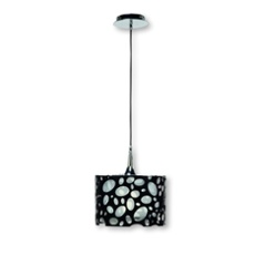 Mantra lampe suspendue MOON WHITE AND BLACK 1L SMALL