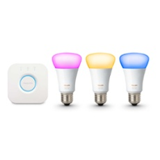 Philips Hue LED E27 3er Starter Set RGBW 10W, ArtNr. 75005