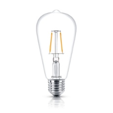 Philips Classic LEDbulb 2.3-25W E27 827 ST64 CL FIL ND, Item no. 74243