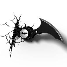 3D Wandleuchte Batarang