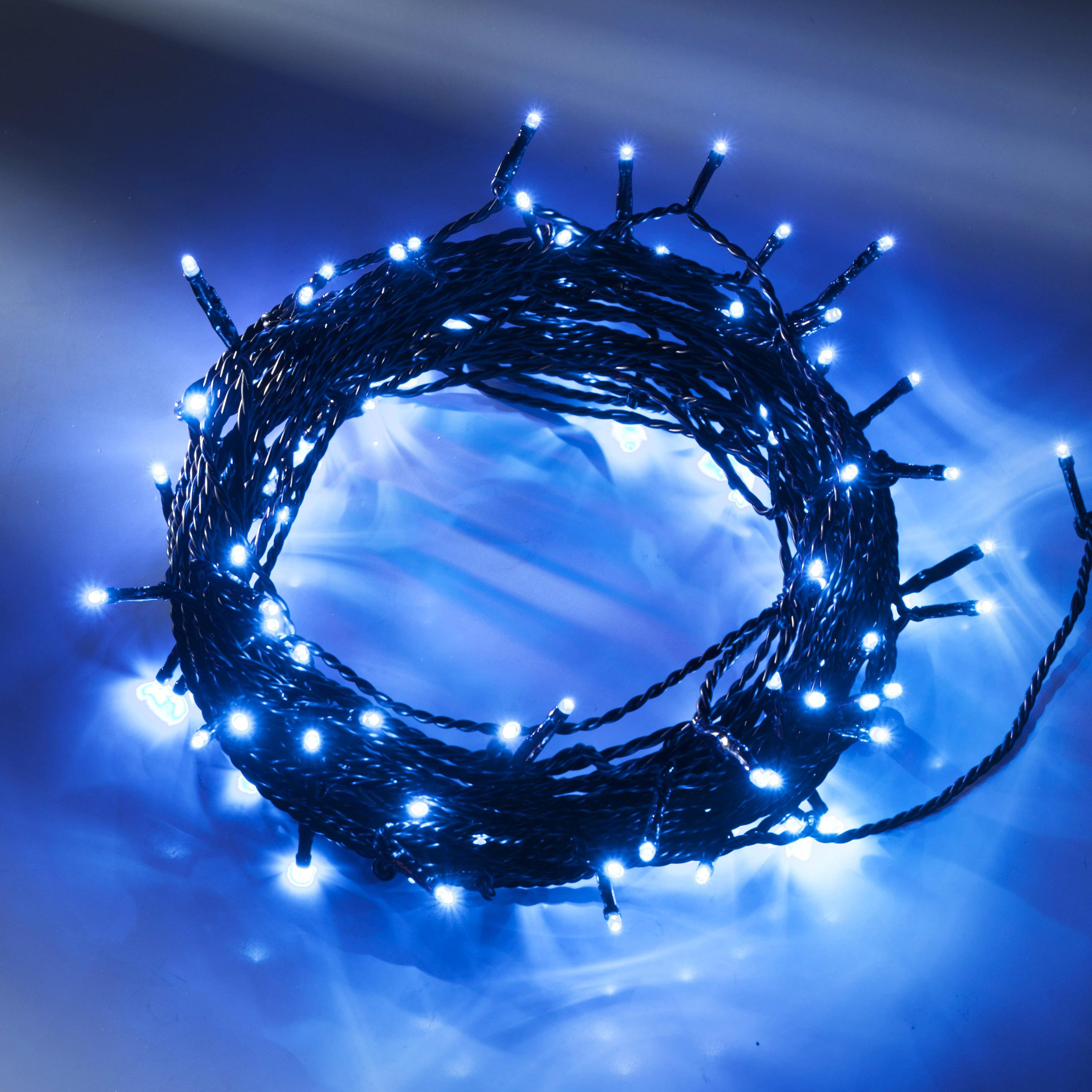 Konstsmide LED-Lichterkette, blau, 16m, 40 LEDs 3610-400