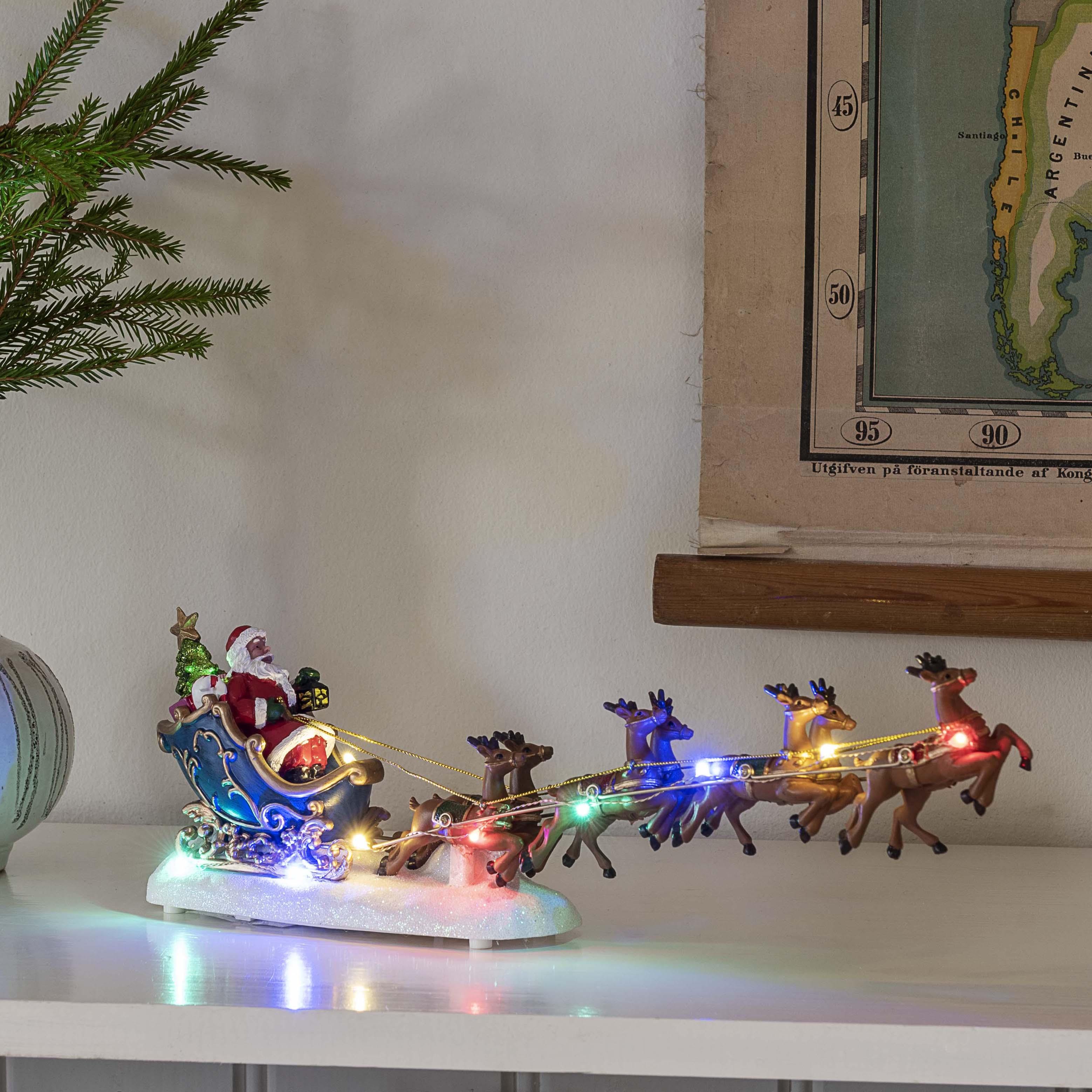 Konstsmide Weihnachtsmann mit Schlitten, 10 bunte LEDs 4205-000
