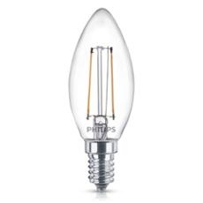 Philips Classic LEDcandle 2-25W E14 827 B35 klar