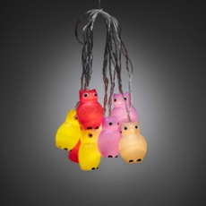 LED Dekolichterkette mit bunten Eulen
