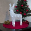 Small LED Acryl reindeer, standing, Item no. 97035