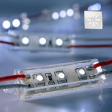 LED module white 3 x SMD-LED, 49mm 12V