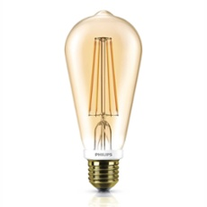 Philips Classic LEDbulb 7-50W E27 820 ST64 gold FIL DIM, Item no. 74920