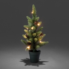 LED Christmas tree with pine cones, 10 warmwhite LEDs 45cm